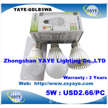 Yaye Hottest Sell 6W E27 LED Bulb / Aluminum 6W E27 LED Bulb / Dimmable 6W E27 LED Bulb