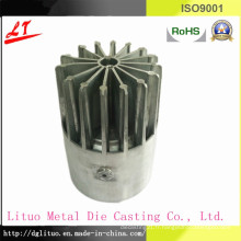 Partie de base de l'évier de chaleur en fonte moulée sous pression en aluminium