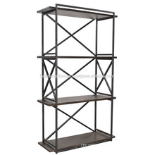 Industrial metal wood 3 tier Book shelf