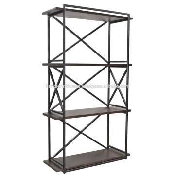 Industrial metal wood 3 tier Book shelf