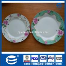 Diseño de Europa 2 gradas de pastel de cerámica de pie, placas de pastel de porcelana