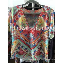 Robe décontractée pour dames Fashion Silk-6