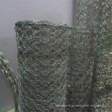 Rede de arame hexagonal para uso com coelho e gabião