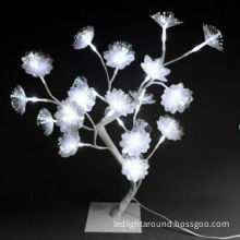 Christmas Tree Lights with 20-piece Optical Fiber Flowers, for Home Decoration