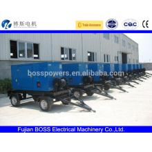 5-1500KW All engine brand diesel generator set 4 wheel trailer