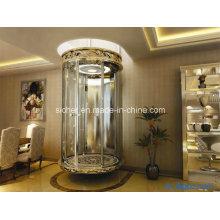 Sicherer 800kg Glaspanoramischer Aufzug