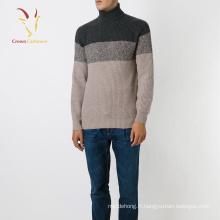 Pull à col roulé en tricot cachemire épais pour hommes