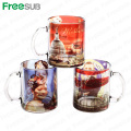 FreeSub 11OZ Sublimation Print Picture Glass Mugs