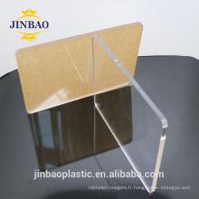 Jinbao propre usine directe en gros de qualité alimentaire plaque acrylique
