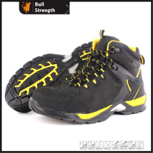 Middle Cut Nubuck Leather Safety Shoe with Mixture Outsole (SN5439)