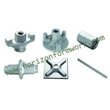 Formwork accessories, wing nut, tie-rod, plate, water stop, tripod, fork head, anchors, U-head, base jack