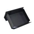 Black Folding Paper Box with Magnet Custom Logo