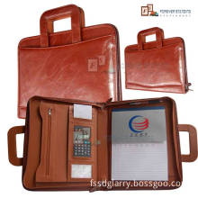 Leather Briefcase with Calculator (4165)