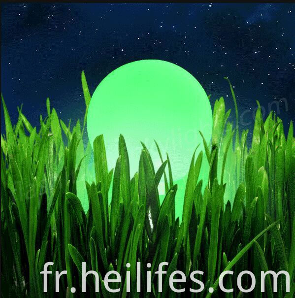 Led lawn light ball