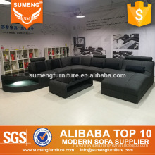 SUMENG 2017 modern latest designed real picture u shape fabric sofa sets from factory