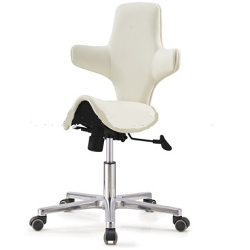 Full PU Leather Wrap Ergonomic Swivel Saddle Chairs