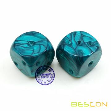 Bescon Swirled Two-tone Dice Six Sides