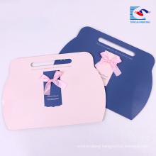 custom print die cut paper gift packaging pillow box