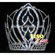 decorated classic flower crystal adult rhinestone tiara