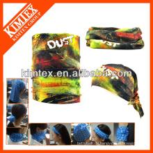 Günstige gedruckte Marke nahtlose benutzerdefinierte elastische Strick Stirnband