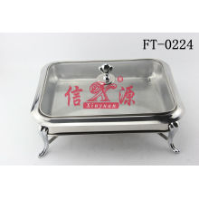 Stainless Steel Glass Cover Buffet Stove (FT-0224)