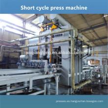 Máquina de la prensa de la melamina de la sola capa / máquina laminada del panel decorativo