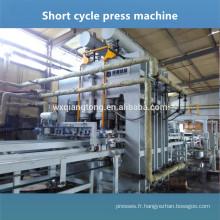 Machine à pression en mélamine à une couche / machine à panneaux décoratifs stratifiés