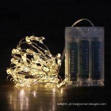 Fio de cobre branco luzes ledchristmas corda para decoração