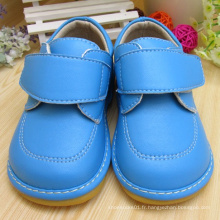 Solid Blue Baby Boy Chaussures Squeaky Shoes