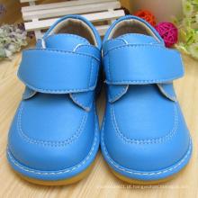 Sapatos de bebê azul sólido e sapatos de sapatos