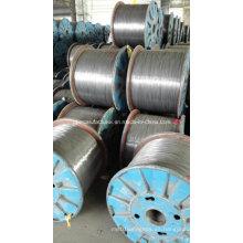 1X7 5mm hilo de acero galvanizado sumergido caliente