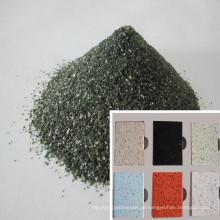 Quartzo Verde / Areia de Sílica para a parte superior contrária