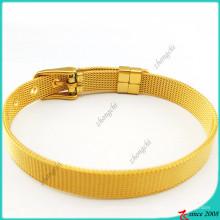 Bracelets en acier inoxydable d'or pour les charmes de glissière (B16041921)