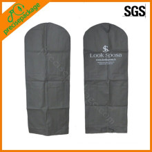 eco reusable fashion non woven garment bag suit cover with customer brand