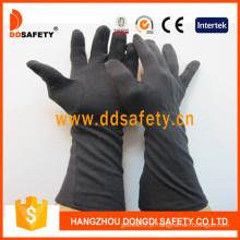 Luva de algodão preto com manguito longo (dch248)