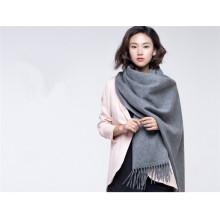 зима женщины шерсть кашемир смешанные простой вязаный шарф
