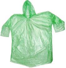使い捨てグリーン プラスチック雨具