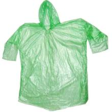 Disposable green Plastic Rainwear