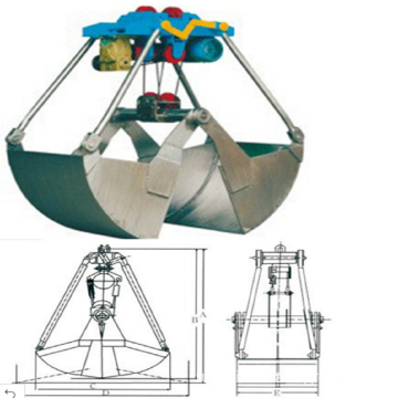 Overhead Crane Used Mechanical Clamshell Grab Bucket