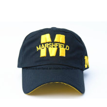 Fabrik-Versorgungsmaterial-kundengebundenes Logo-gestickter Baumwollfördernder Sport-Baseball-Hut
