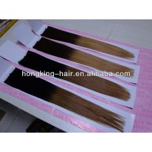 Großhandelsklasse 5a Remy Ombre zwei Tonband Haarverlängerung