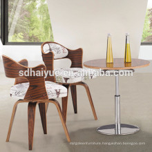 HY2012-2 Hot sale Modern Wood Legs Design Dining Coffee table and Chairs