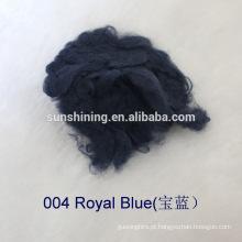 fibra cortada de viscose branca tingida e bruta