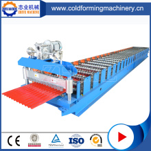 Roofing bergelombang Galvanized Sheet Roll Forming Machine