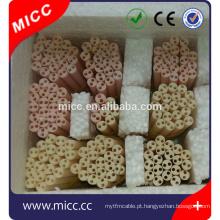 MICC 95% Alumínio 2 Furos Exterior 3mm Comprimento 80mm Grânulos de Isolamento Cerâmico