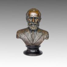Bustos Bronze Escultura Músico Tchaikovsky Latão Estátua TPE-621