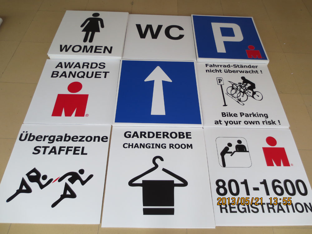 plastic sign board