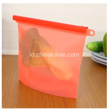Food Grade Kesegaran Reusable Freezer Silicone Ziplock Bag
