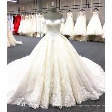 Luxo vestido de noiva de cauda longa vestido de noiva 2018 WT345