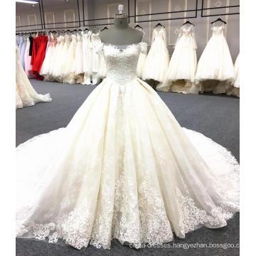 Luxury long tail wedding dress bridal gown 2018 WT345